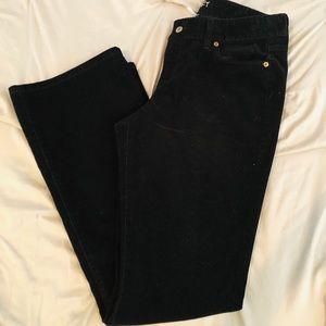 LOFT Curvy Bootleg black corduroy jeans!